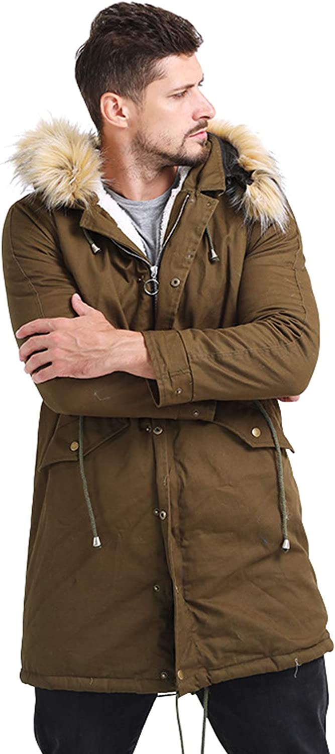CHARTOU Men's Winter Spring Ranking TOP12 new work Undetachable Hooded Mi Lined Thicken Sherpa