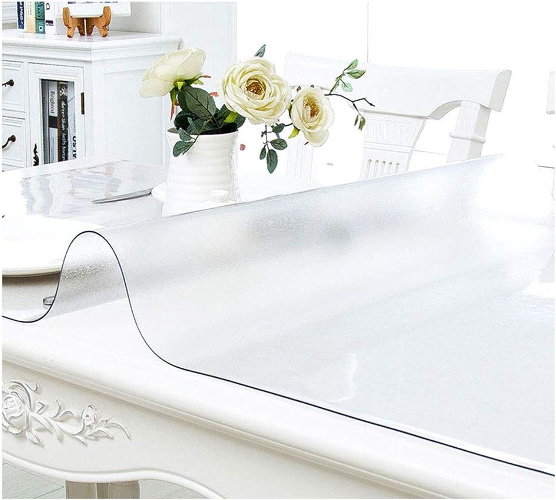 100% precio garantizado LWLGJWLG Frosted PVC Mantel de sobremesa de plástico Transparente Transparente Transparente Limpiables Mantel de Mesa de projoección Muebles de Mesa (Color   Thickness 1.0mm, Talla   90×140CM)  venta al por mayor barato