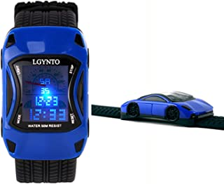 LGYNTO Kids Watches Boys Waterproof Sports Digital LED Wristwatches 7 Colors Flashing Car Shape Wrist Watches for Children,for Age 3-10