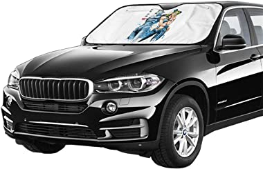 eneric s Jolyne Kujo Auto Windshield Sun Shades,Car Sun Shade,UV Protect,Visor Car Front Window Sunshade,Universal Fit for Ca