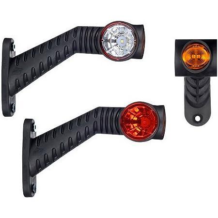 2 X Led Gummi Begrenzungsleuchte Seitenleuchte 12v 24v Mit E Prüfzeichen Positionsleuchte Auto Lkw Pkw Kfz Lampe Leuchte Licht Weiß Rot Orange Auto