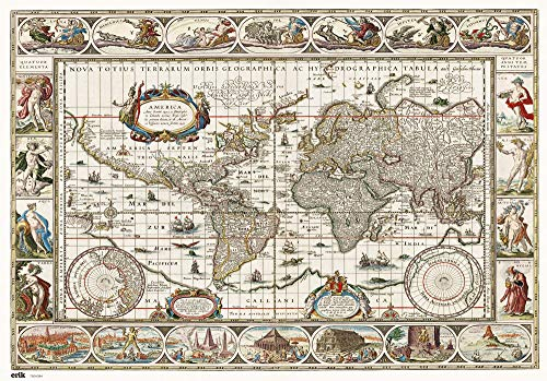 Grupo Erik Vade mapa mundo antiguo Tapete escritorio/Vade escolar multifuncional, Protector...
