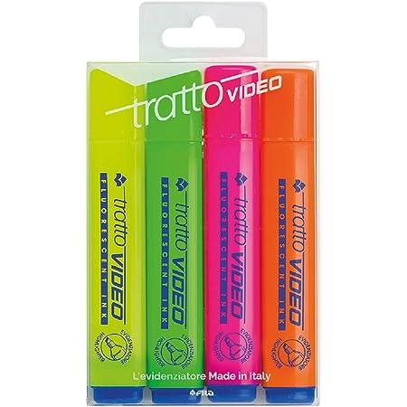 Tratto Video - Pack de 4 marcadores fluorescentes
