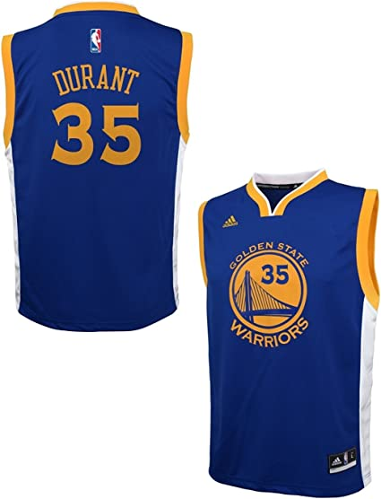 adidas Kevin Durant Golden State Warriors Blue Youth Replica Jersey