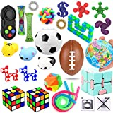 28 Pack Sensory Toys Set, Relieves Stress and Anxiety Fidget Toy for Children Adults, Special Toys Assortment for Birthday Party Favors, Classroom Rewards Prizes, Carnival, Piata Goodie Bag Fillers