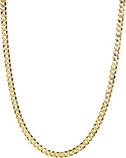 18k Gold Flashed Sterling Silver Men's 5mm Italian Curb...