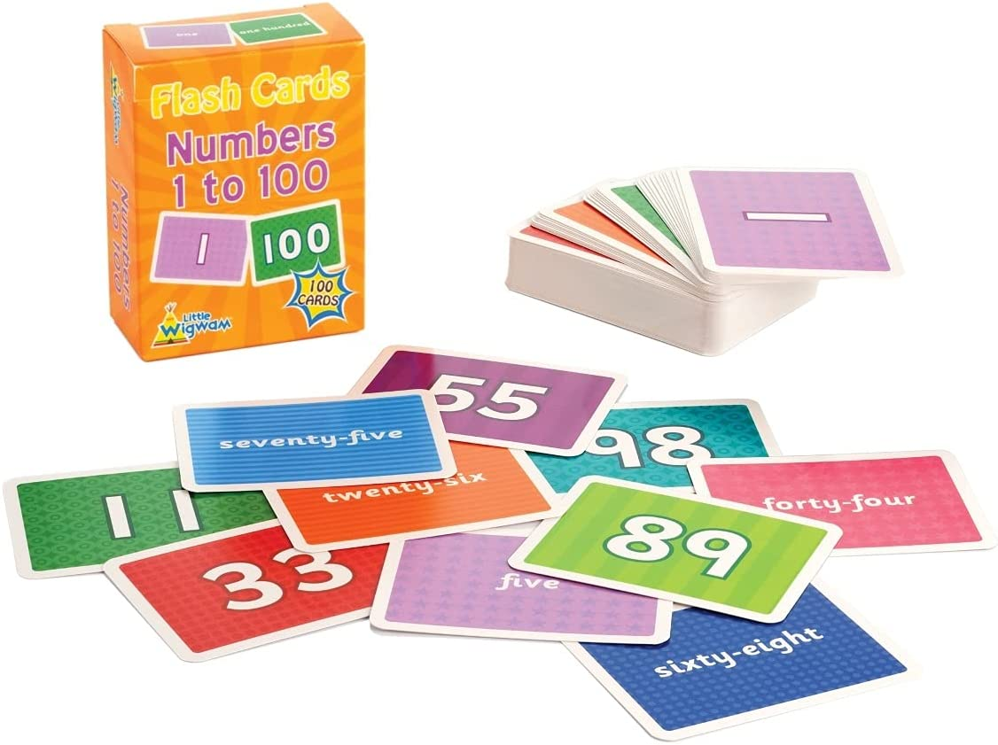 Little Wigwam At the price Numbers 1 to 100 Flash Cards - of Selling and selling Full Set Edu