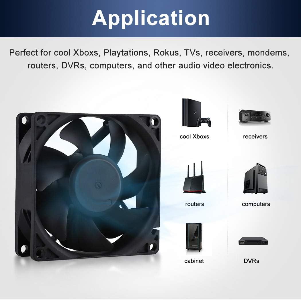 Wathai EC Axial Fan AC 110V 115V 120V 220V 240V Brushless Cooling Fan 80mm x 25mm