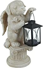 Comfy Hour Resin Memorial Dog Angel Taking A Lantern Pet Status Light Gray Perfect for Home Or Outdoor Garden