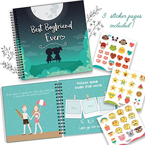 Best Boyfriend Ever Memory Book. The Best Romantic Anniversary Gift Idea for Your Boyfriend. Your BF Will Love This Cute & Unique Present For His Birthday, Valentine's Day, Christmas or a Special Date