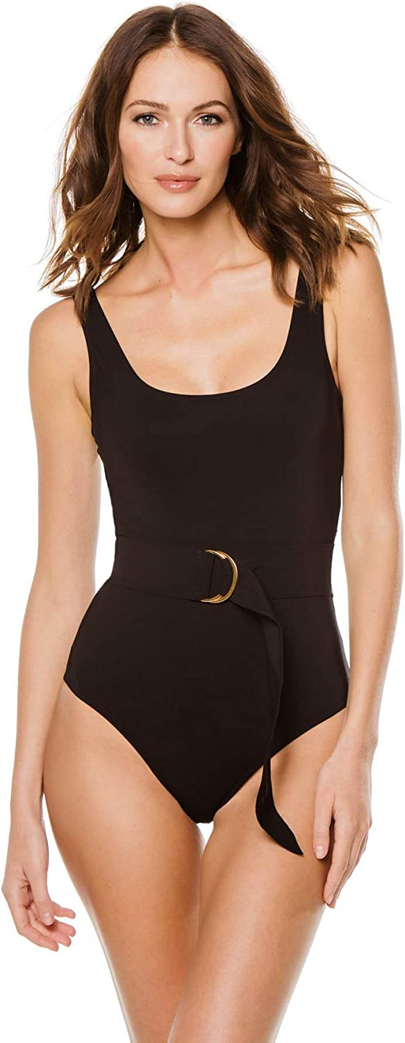 Karla Colletto Women's Angelina Belted Underwire One Piece Swimsuit