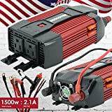 Audiotek 1500W Watt Power Inverter DC 12V AC 110V Car Converter USB Port Charger