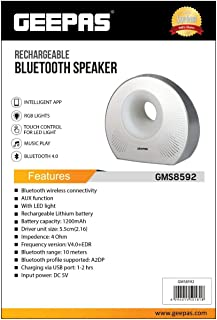 GEEPAS RECHARGEABLE BLUETOOTH SPEAKER GMS8592