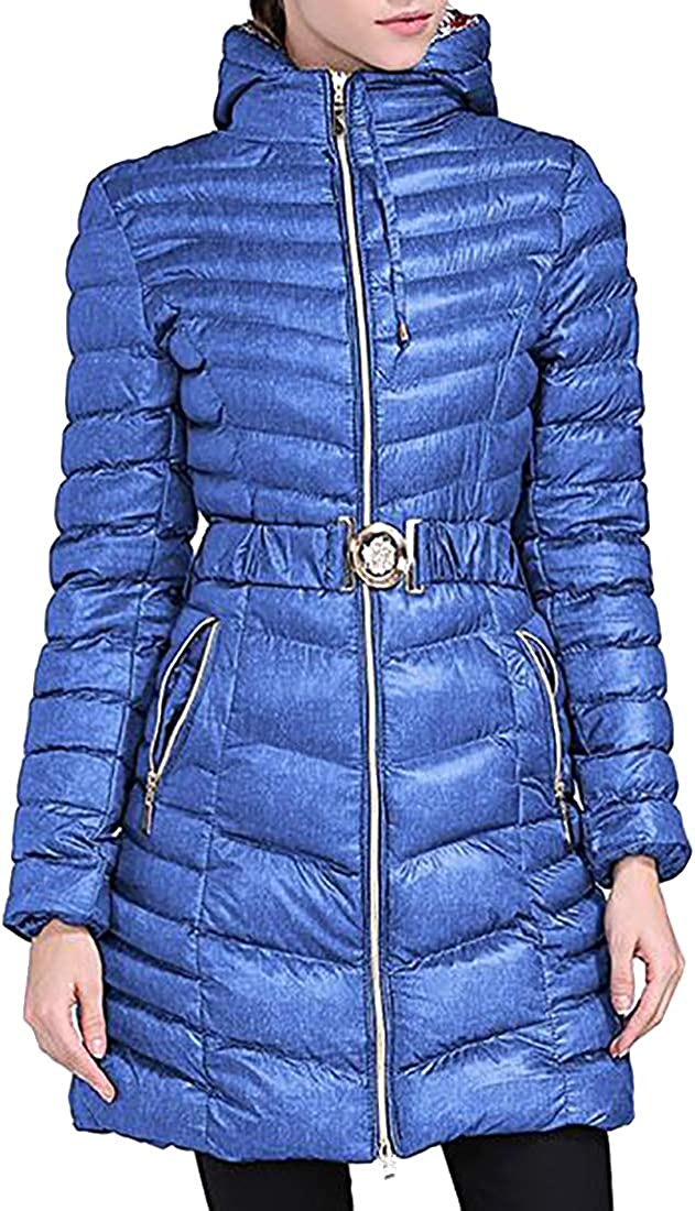Fulision Women's Quilted Jacket Outerwear Shiny Warm Winter Hooded Coat