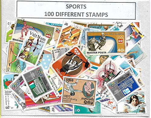 Sports Stamps 100 Different CTO ~ in Coins & Stamps Collecting @ Mahaphilla