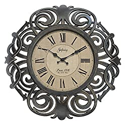 Infinity Instruments Paris, 18, Ornamental Decorative Wall Clock