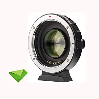 VILTROX EF-M2 II Focal Reducer Booster Adapter Auto-Focus 0.71x for Canon EF Mount Series Lens to M43 Camera GH4 GH5 GF6 G...