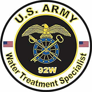 MAGNET US Army MOS 92W Water Treatment Specialist 10 Inch Magnetic Sticker Decal