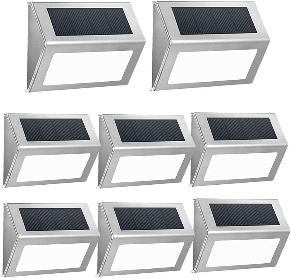 Solar Step Lights Outdoor 3 Louisville-Jefferson Sale County Mall LED Powered Dec 30LM Brighter
