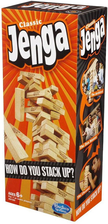 Entrega gratuita y rápida disponible. Hasbro Jenga Jenga Jenga Classic   Block Stacking Juego for 1 or More Jugarers  aquí tiene la última