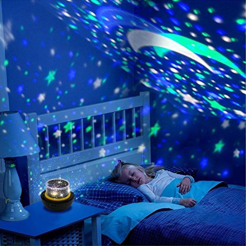 Star Night Light for Kids, Universe Night Light Projection Lamp, Romantic Star Sea Birthday New Projector lamp for Bedroom - 3 Sets of Film 7