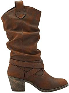 Rocket Dog Womens/Ladies Sidestep Mid-Calf Western Boot