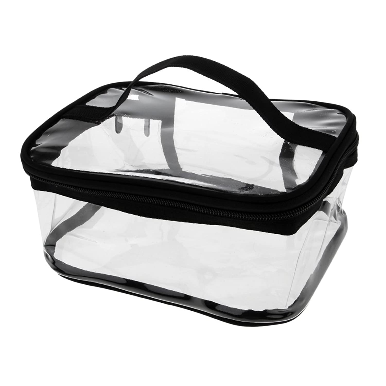 Kesoto メイクバッグ 化粧ポーチ PVC クリア コスメ収納 化粧品 小物入り バッグ ポーチ ジッパーバッグ 全4タイプ - #1