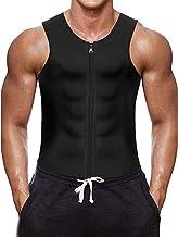 Fitness Sauna pak Vest Zweet Effect Taille Shaper Neopreen Tank top Sterk Vormend Gym Vest Met Rits voor Heren Sport Fitne...