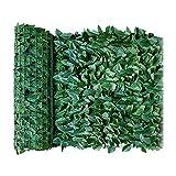 HUIJUAN Valla artificial de hiedra para privacidad, pantalla de 39 x 20 pulgadas, para jardín de casa, terraza, decoración, valla de vid artificial