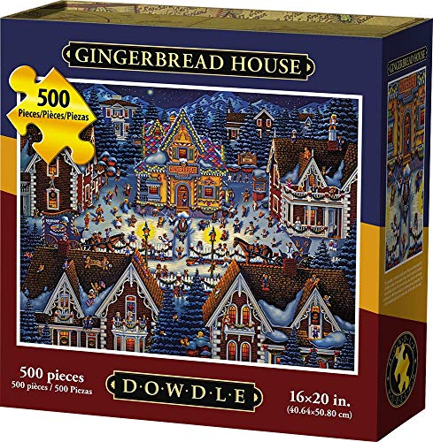 Dowdle Jigsaw Puzzle - Gingerbread House - 500 Piece