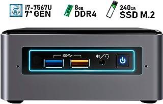 Intel NUC i7-7567U + 8GB DDR4 + 240GB SSD M.2 + Windows 10 Pro ESPAÑOL   Mini PC - NUC7I7BNH