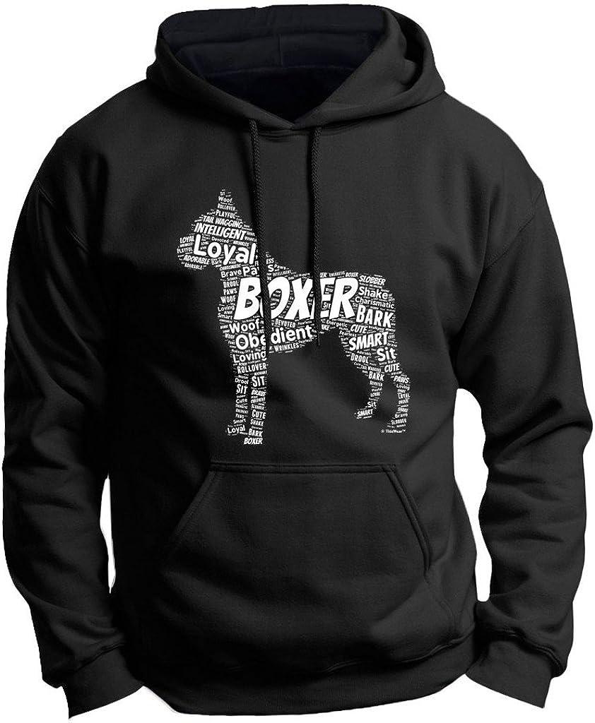 Boxer Word Free Shipping Cheap Bargain Gift Art Dog 5 ☆ very popular Puppy Sweatshirt Premium Owner Hoodie