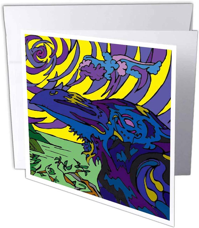 3dRosa 3dRosa 3dRosa gc_13618_1 Grußkarte Raven View , 15,2 x 15,2 cm, 6 Stück B07BJCST87 | Günstige  | Clever und praktisch  | Hochwertige Produkte  572561