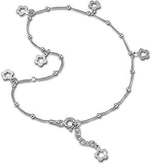 Silver Dream SDF2194J cadena de pie de trébol redondo, 27 cm plata de ley 925.
