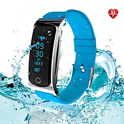 LEKANG Fitness Tracker, Activity Tracker with Wrist-Based Heart Rate Monitor, Water Resistant Smart Band with Step Tracker Sleep Monitor Calorie Counter Notification Alerts for Android iOS Smartphone