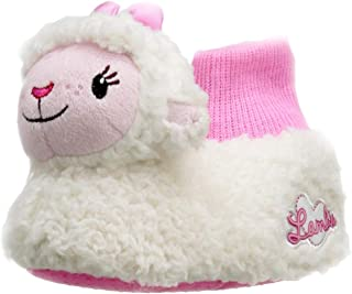 Doc McStuffins Toddler Girls 3D Lambie Plush Sock Top Slippers