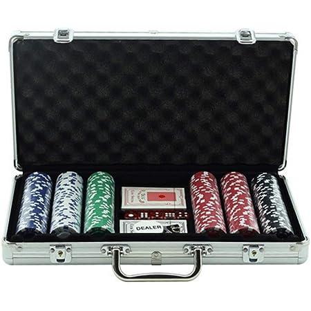 11.5gm Trademark Poker 300 Holdem Poker Chips Set with Aluminum Case