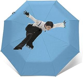 羽生結弦 はにゅう ゆづる Yuzuru Hanyu折りたたみ傘 日傘 傘 長傘 パラソル 雨具 ワンタッチ 自動開閉 丈夫 耐強風 撥水 晴雨兼用 遮光遮熱 収納ポーチ付き 男女通用