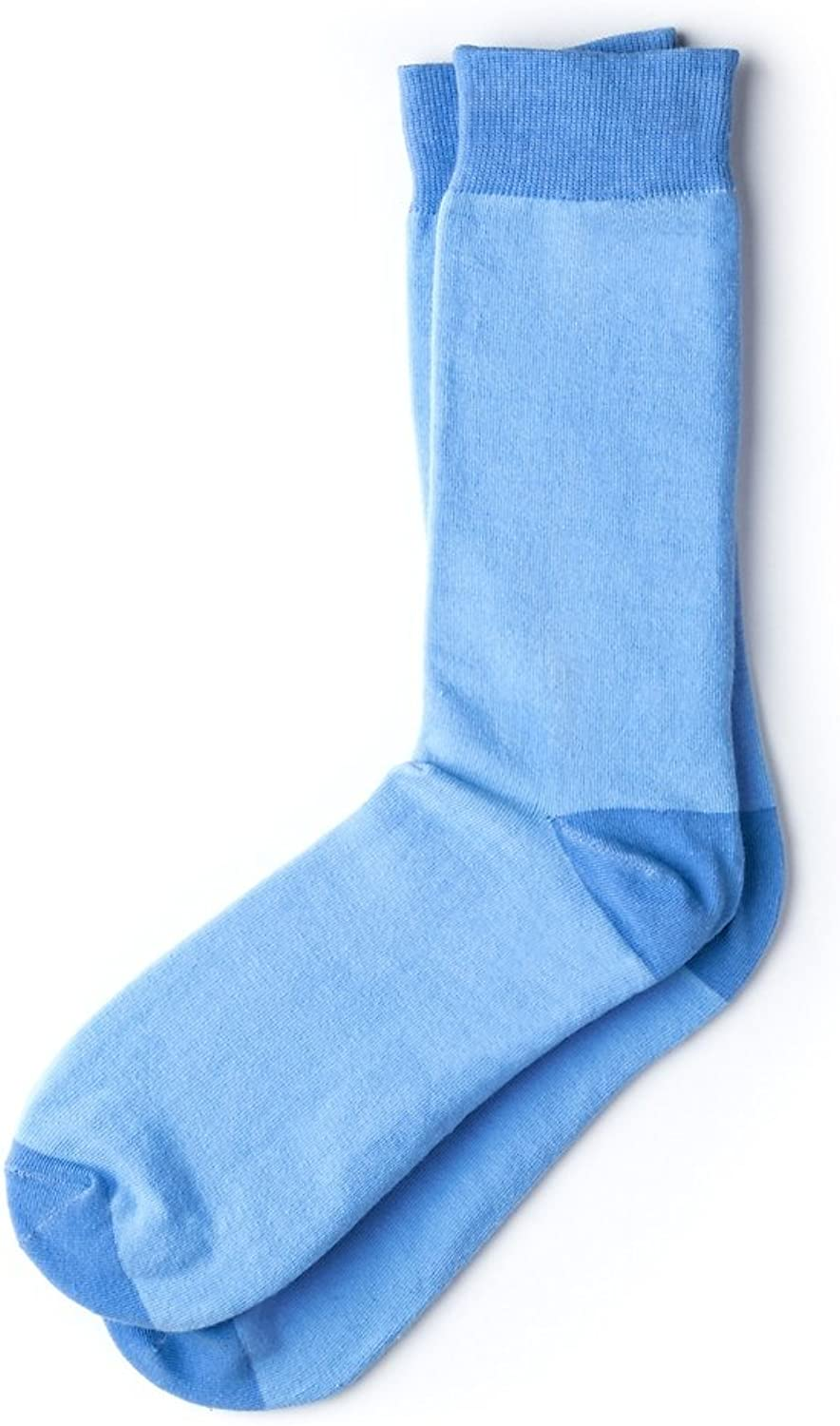 Hollywood Solid Solid Solid Light blueee Carded Cotton Sock 4d985e