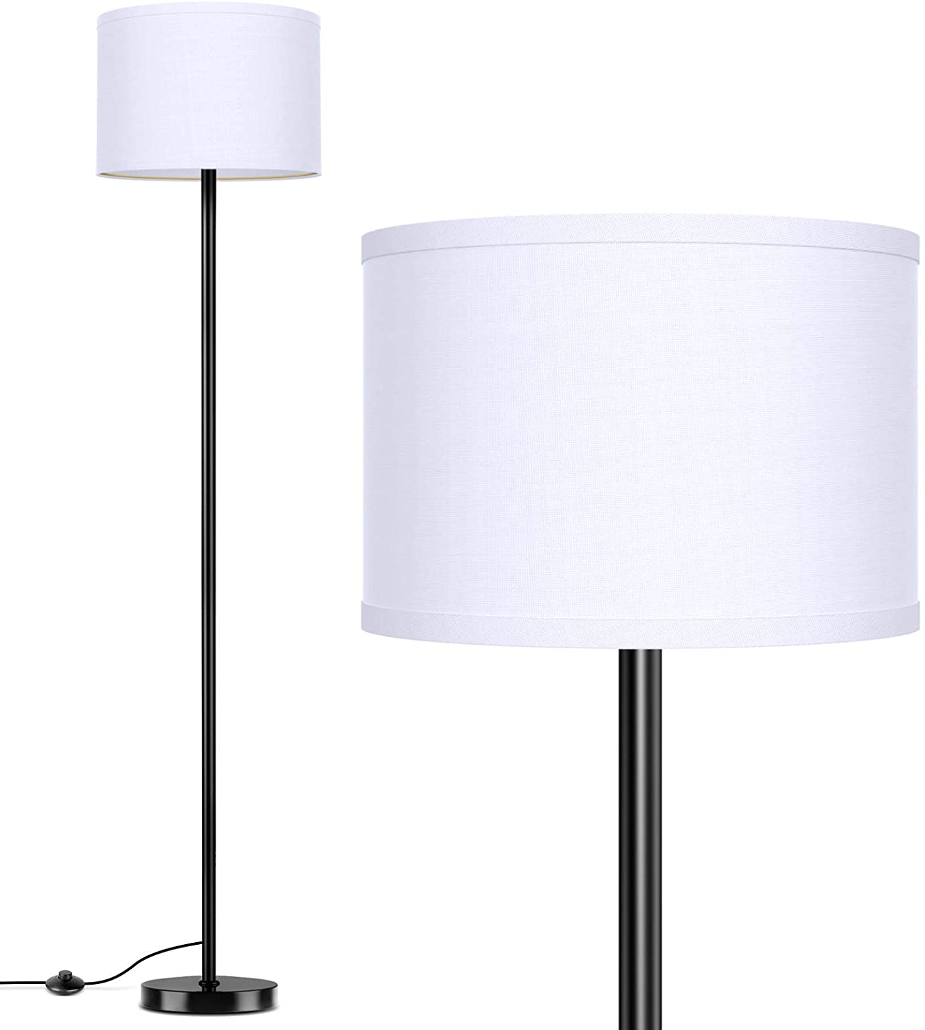 Direct stock discount LED Floor Lamp Simple Design Super beauty product restock quality top! with Standing Modern Ta Shade