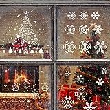 Keilafu vinilo navidad escaparate, vinilos escaparates navideños, 3 piezas reutilizables...