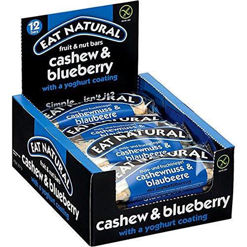 24 Riegel Orginal a 45g Eat Natural Cashew Blaubeer mit Joghurtüberzug verpackt in 2 Boxen