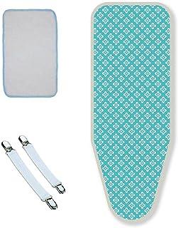 LaundrySpecialist® Housse de planche à repasser DURABLE Taille L/XL (+Gratuit Tapis de repassage) – Housse de planche à re...