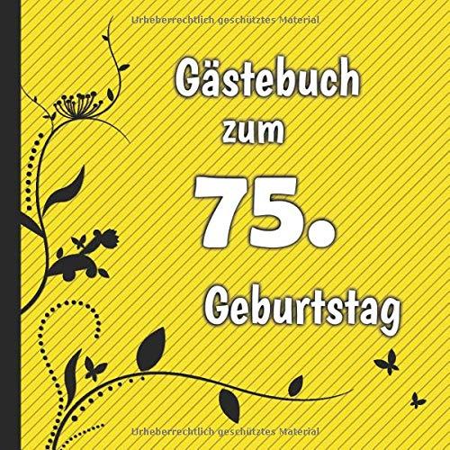 Gästebuch zum 75. Geburtstag: Gästebuch in Rot Blau und Weiß für bis zu 50 Gäste | Zum...