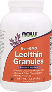 NOW Supplements, Lecithin Granules with naturally occurring Phosphatidyl Choline and Other Phosphatides, 1-Pound