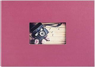 Panodia Album Photo Traditionnel Studio Framboise 120 Photos 10x15, 40 Pages, 342 x 243 x 25 mm - fabriqué en France