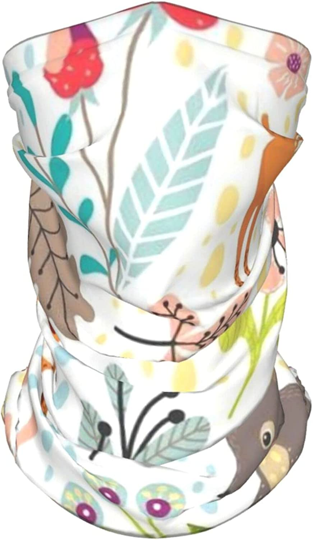 Forest Animals Neck Gaiter Multipurpose Headwear Ice Silk Mask Scarf Summer Cool Breathable Outdoor Sport 4 Pcs