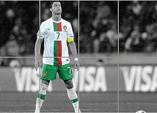 CRISTIANO RONALDO PORTUGAL FOOTBALL FREE KICK GIANT WALL PRINT POSTER ART EN718