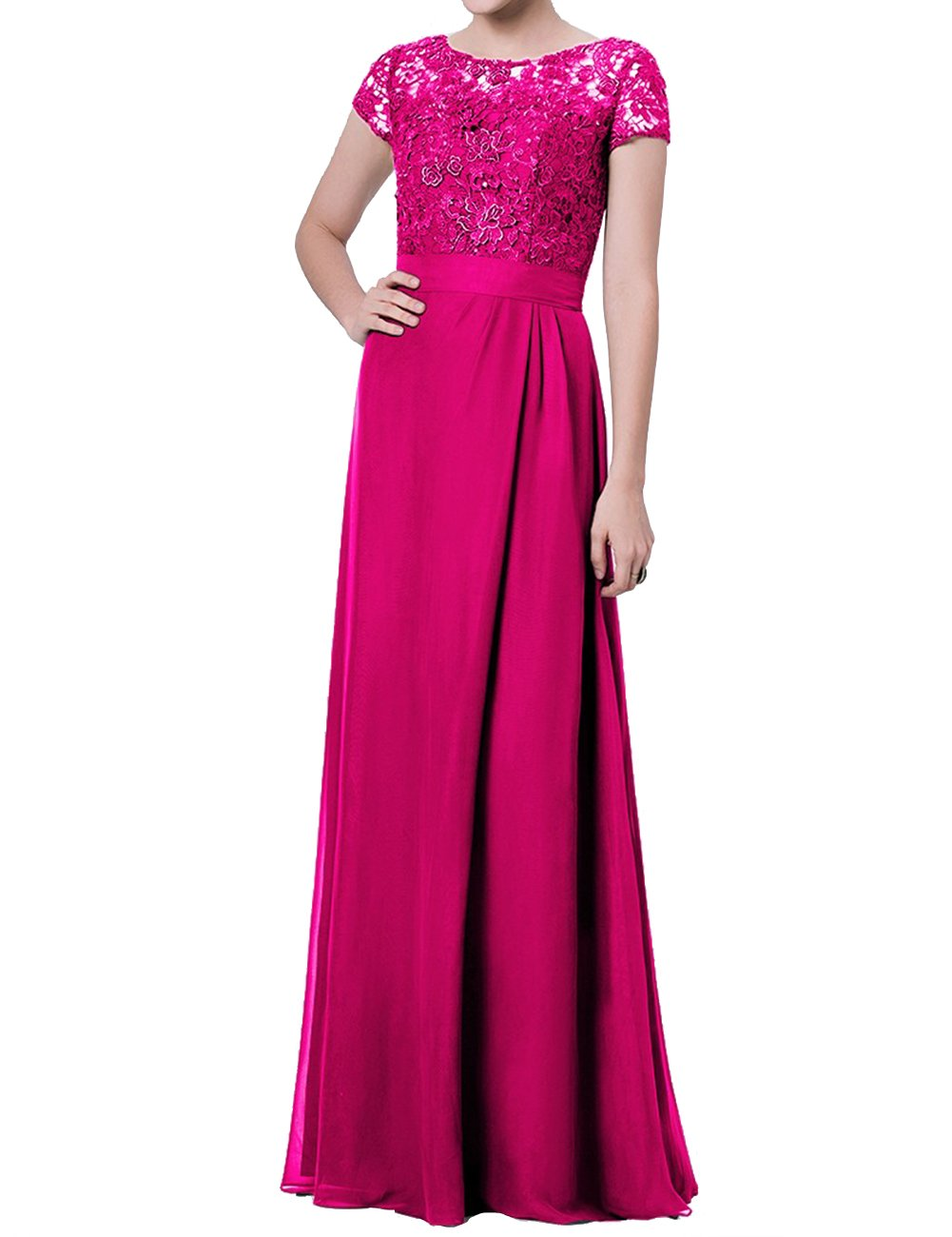Available at Amazon: JAEDEN Mother of The Bride Dress with Sleeves Formal Evening Dress for Wedding Party Gown
