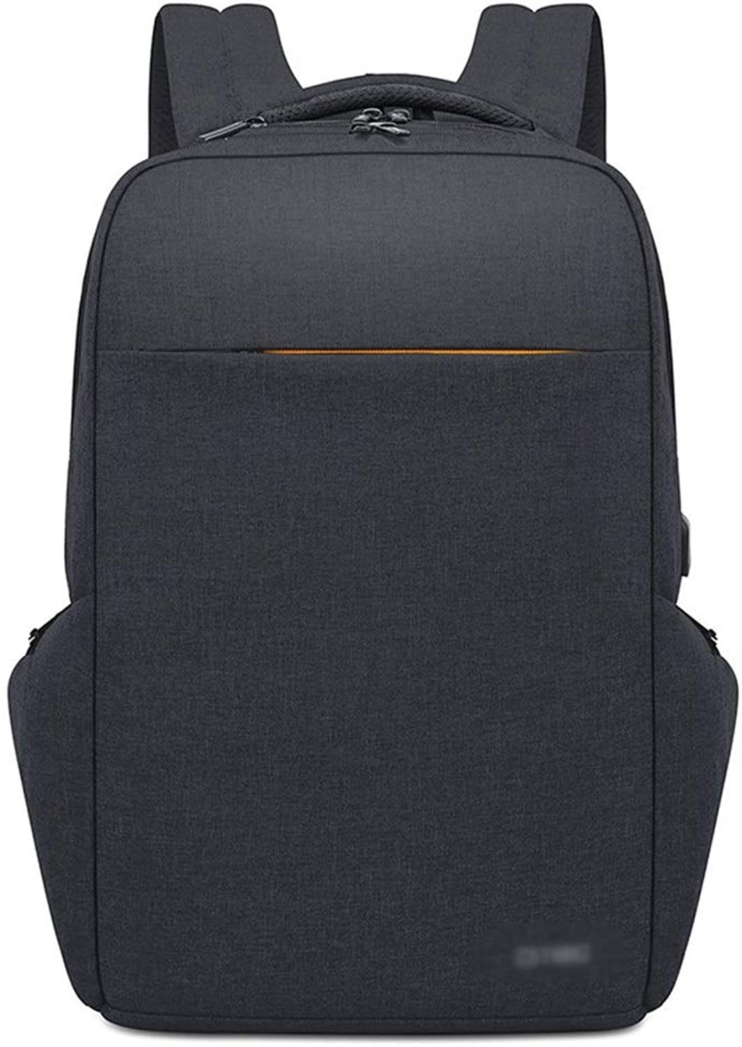 Double Shoulder Large Capacity USB Rechargeable Backpack Travel. (color   Black, Size   17inch)